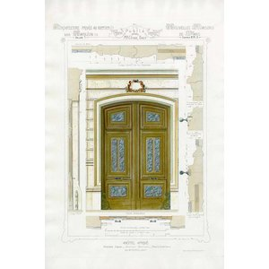 Print on Paper US250 - Architectural Elevation for Entrance Door