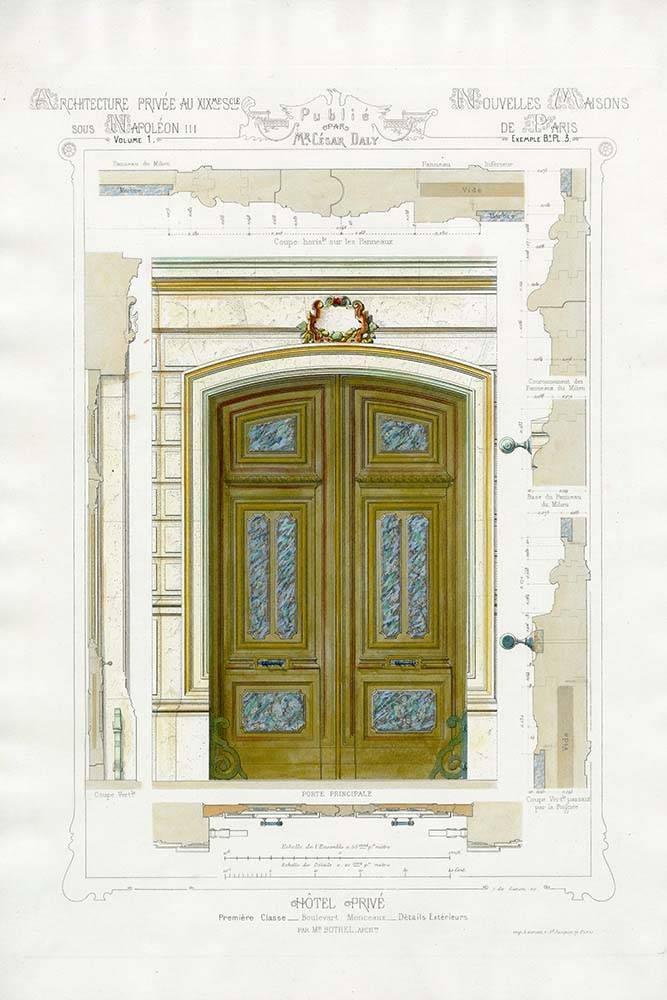 Wood Door Elevation : Sketch for french entrance door wood the picturalist