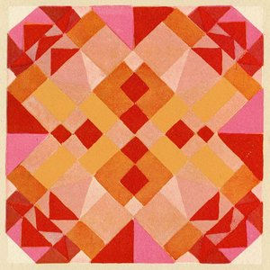 Print on Paper US250 - Composition in Pink, Red and Orange