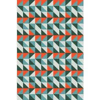 Print on Paper US250 - Modernist Screen in Green and Orange