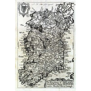 Print on Paper US250 - The Kingdom Of Ireland Map