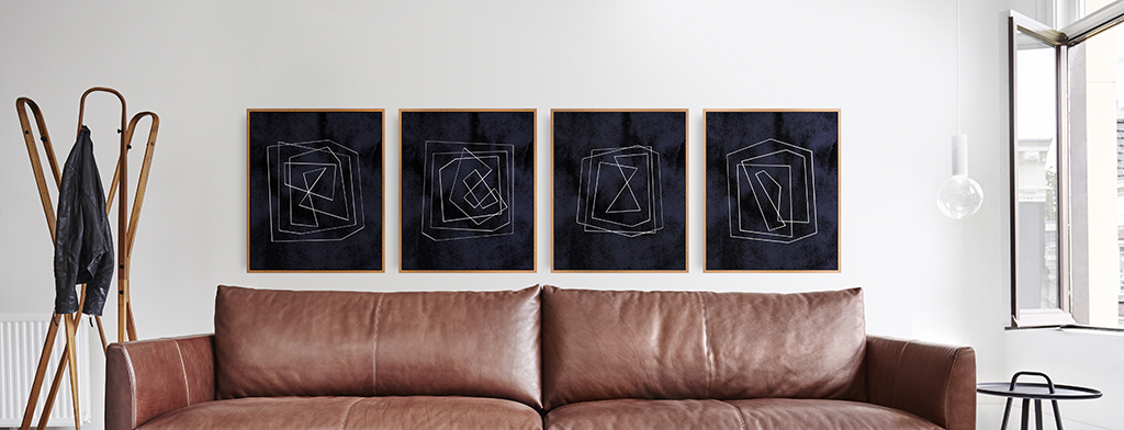 Series of 4 abstract