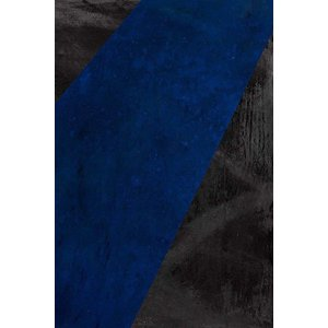 Stretched Canvas 1.5 - Black and Blue Canvas by Evelyn Ogly