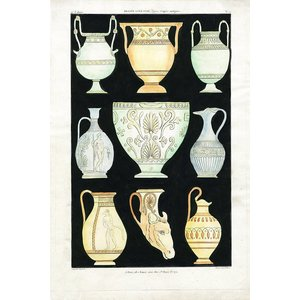 Print on Paper US250 - Ancient Greek Vases and Urns Series 1