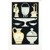 Print on Paper US250 - Ancient Greek Vases and Urns Series 3