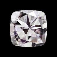Facemount Acrylic - Precious Gem White Radiant Diamond