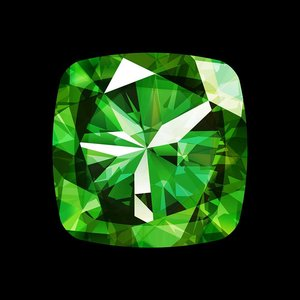 Facemount Acrylic - Precious Gem Green Radiant Emerald