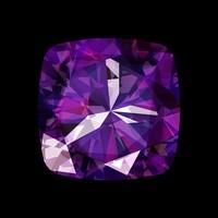 Facemount Acrylic - Precious Gem Purple Amethyst Radiant
