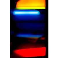 Facemount Acrylic - Wassily Kazimirski Berlin Citylights 1 Blau.  1/4 Inch Thick Acrylic Glass
