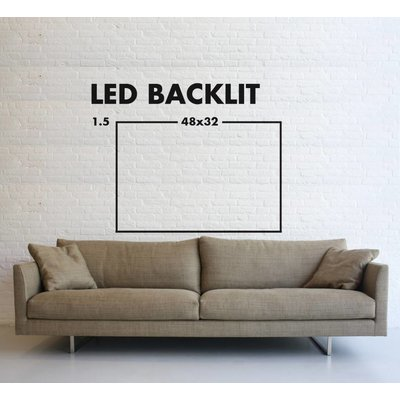 LED Backlit Fabric Print - Back Lit Photography Arched Metal
