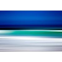 Facemount Metal - Turquoise Blur UV Printed on Metal