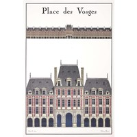 Print on Paper US250 - La Place Des Vosges Architectural Drawing