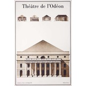 Print on Paper US250 - Le Théâtre de L'Odéon Architectural Drawings
