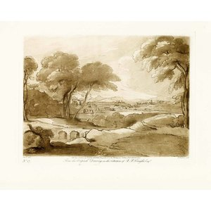 Print on Paper US250 - Antique Pastoral Scene by J. Boydell 1802 Cheapside at the Shakspeare