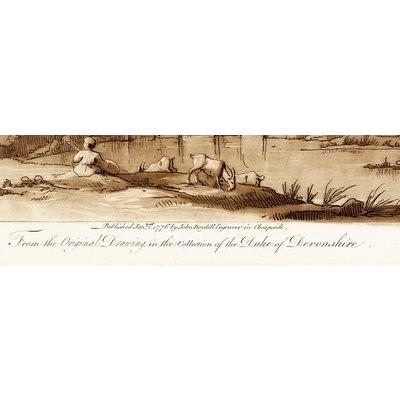 Print on Paper US250 - Antique Pastoral Scene Duke Of Devonshire by J. Boydell 1802