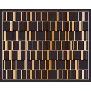 Facemount Acrylic - Black Gold Screen by Alejandro Franseschini  1/4 Inch Thick Acrylic Glass
