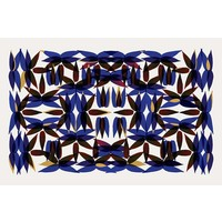 Facemount Acrylic - Kaleidoscope In Blue 1/4 Inch Thick Acrylic Glass