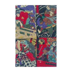 Print on Paper US250 - Japanese Kabuki Uki-yoe Block-print by Toyohara Kunichika 8