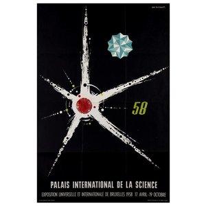 Print on Paper US250 - 1958 Palais International de la Science Brussels