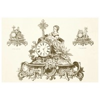 Print on Paper US250 - Antique Clock