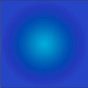 Facemount Acrylic - Cerulean Blue Halo