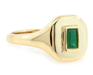 Shay Emerald Gold Signet Ring SH26