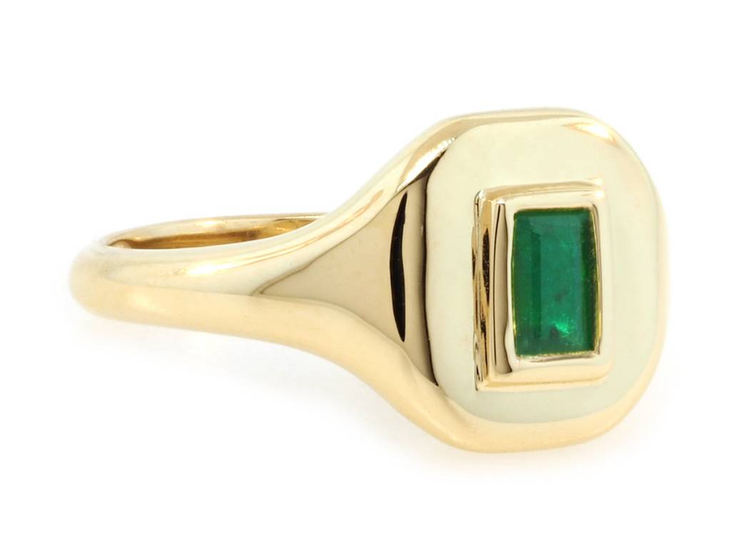 Shay Emerald Gold Signet Ring