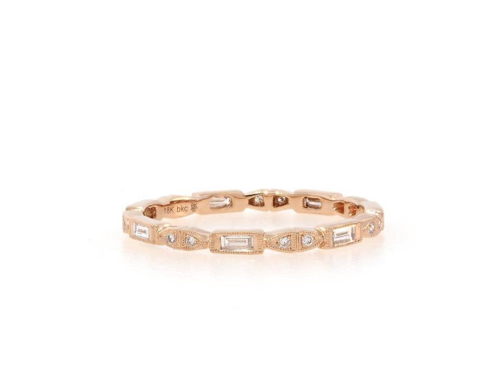 Beverley K Collection Delicate Round and Emerald Cut Eternity