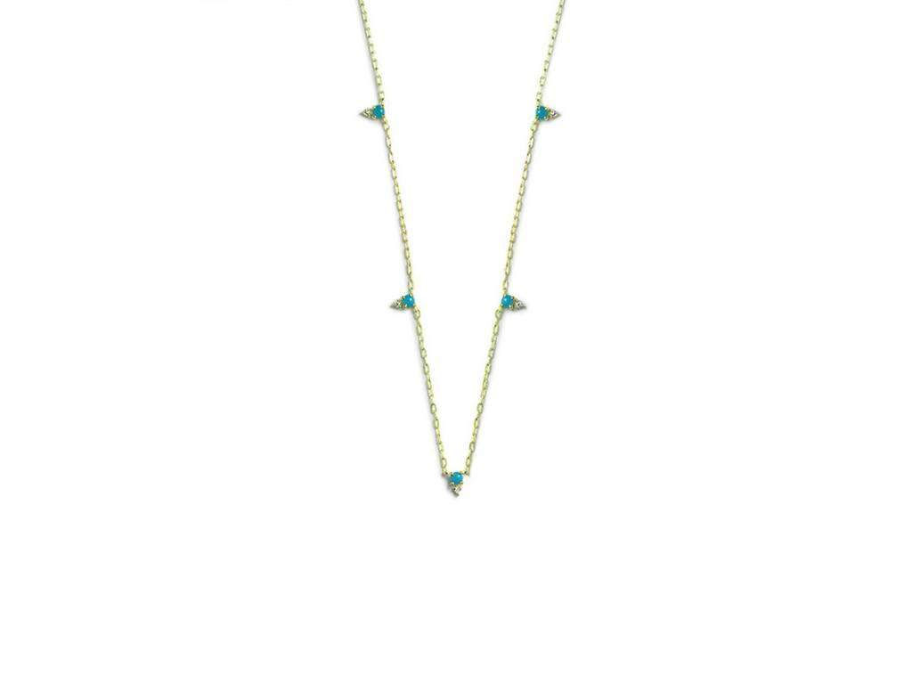 ILA Devere Turquoise and Diamond Necklace