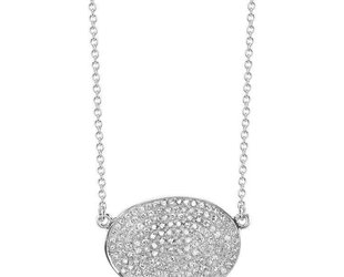 Shay Freeform Oval Pave Diamond Necklace SH17
