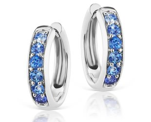 Jane Taylor Blue Sapphire Huggie Hoop Earrings JT4