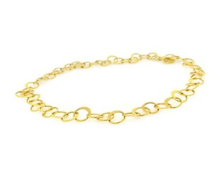 Trabert Goldsmiths Gold Circle Link Necklace E1043