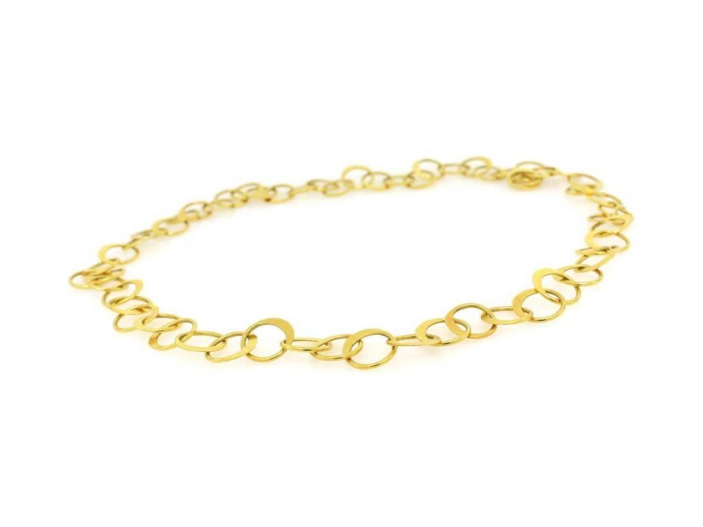 Trabert Goldsmiths Gold Circle Link Necklace