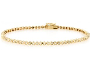 Tony Maccabi Designs Bezel Set Gold Diamond Tennis Bracelet TM27