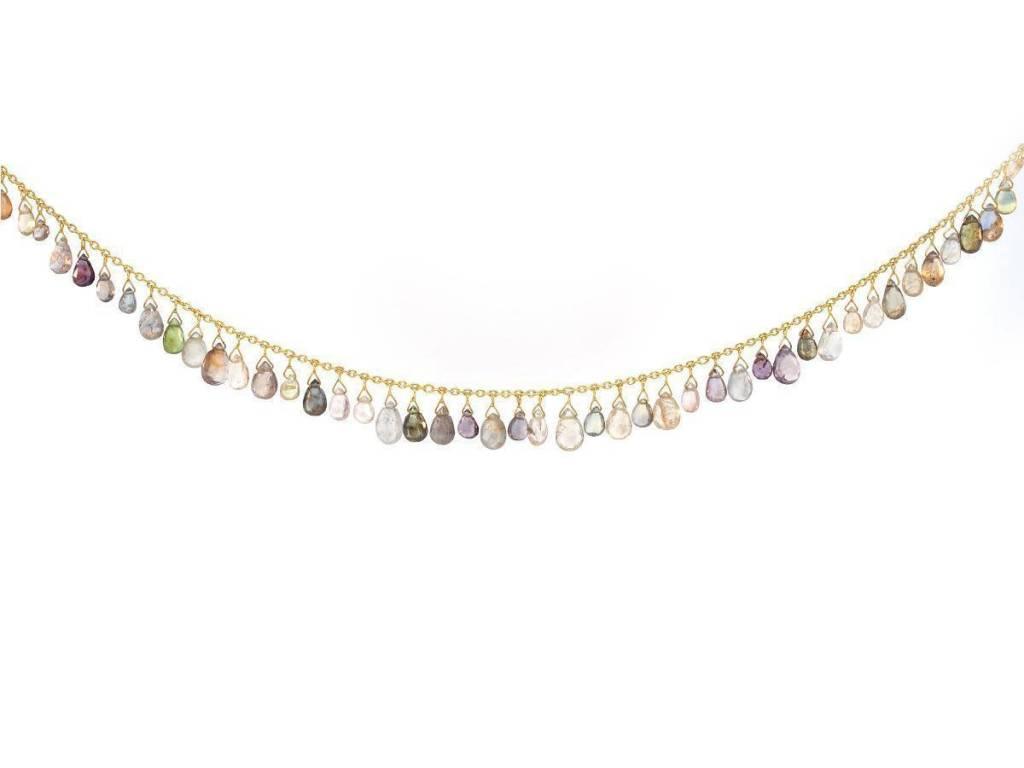 Trabert Goldsmiths Sapphire Briolette Necklace