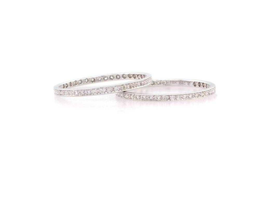 Beverley K Collection White Diamond and White Gold Eternity Band