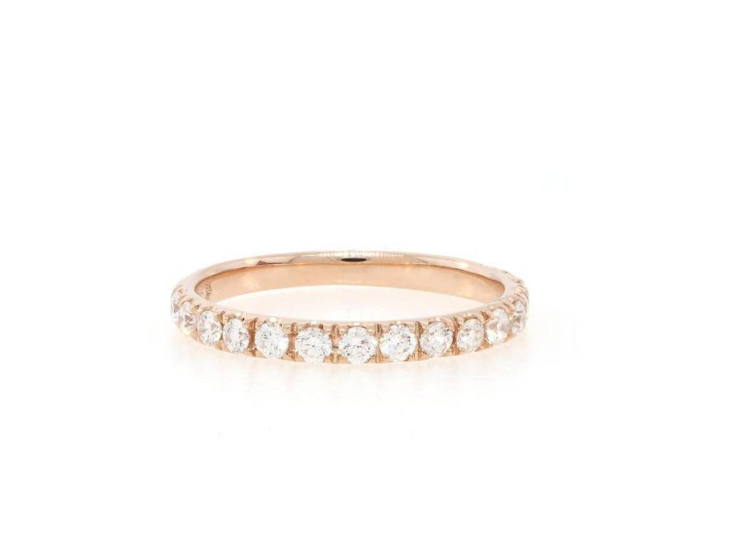 Beverley K Collection Rose Gold and Diamond Half Band