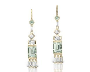 Jane Taylor Cirque Tassel Earrings with Green Quartz JT2
