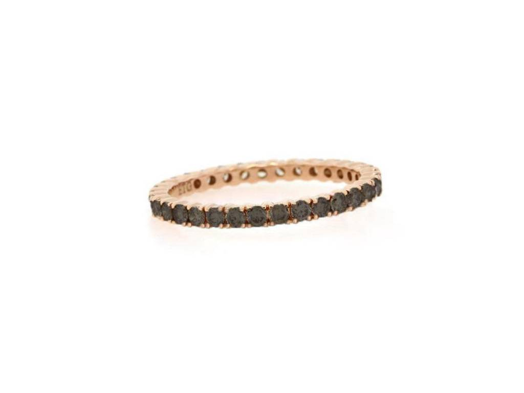 Trabert Goldsmiths Rose Gold Black Diamond Eternity Band