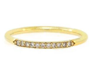 ILA Carel' Half Diamond Gold Ring IL34
