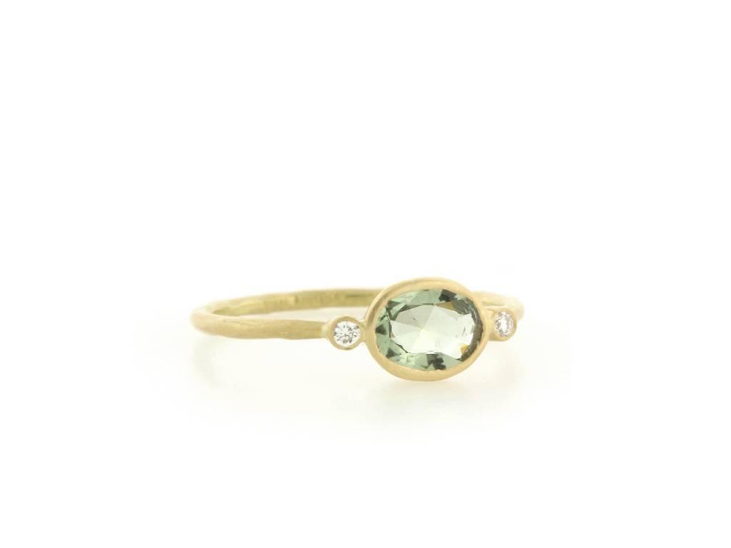 Kothari Green Sapphire and Diamond Ring