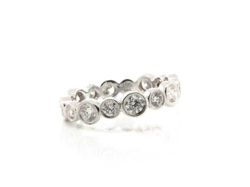 Beverley K Collection Round Bezel Set Eternity Band