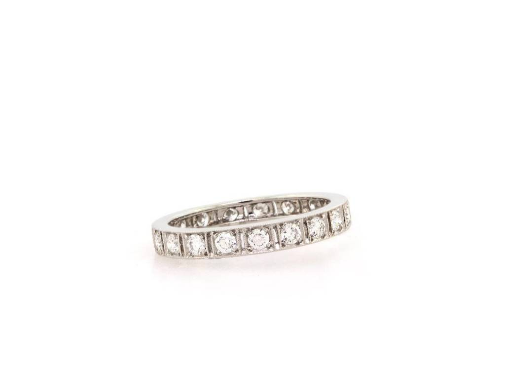 Trabert Goldsmiths Deco Style Diamond Eternity Band