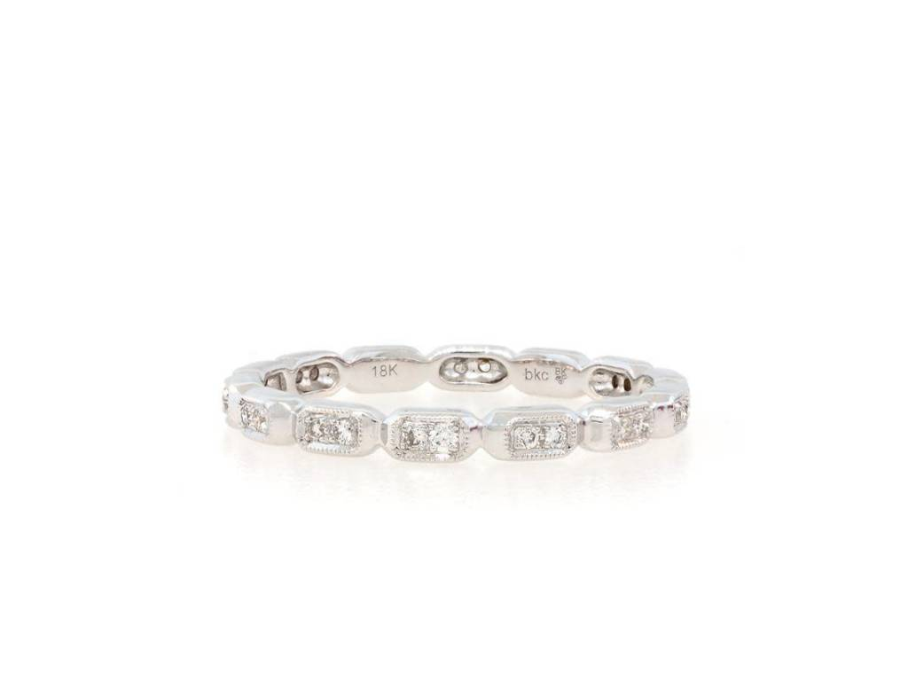 Beverley K Collection Sectioned Pave Diamond Eternity Band