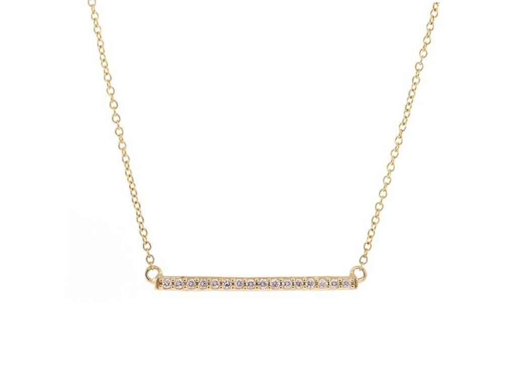 Trabert Goldsmiths Diamond Bar Necklace