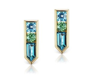 Jane Taylor Cirque Multi Stone Arrow Studs with LBT JT8