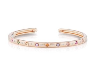 Jane Taylor Cirque Oval Rose Gold Sapp Cuff Bracelet JT17