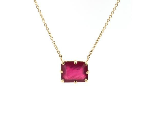Jamie Joseph Jewelry Designs Multi Pronged African Ruby Necklace