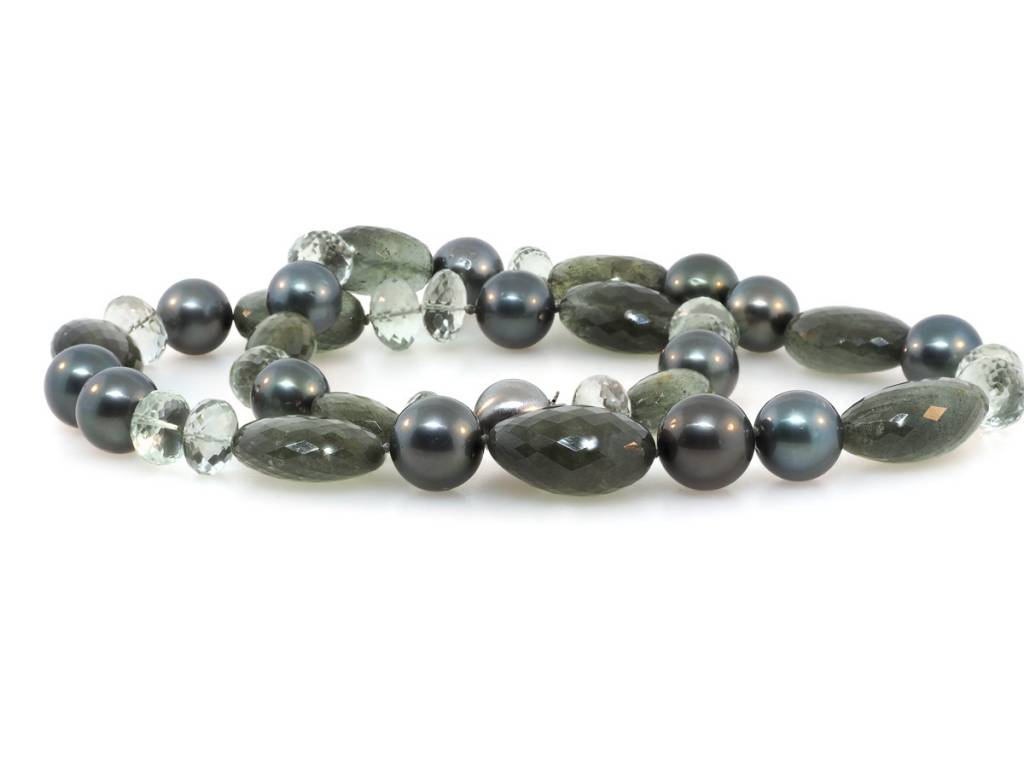 Trabert Goldsmiths Mixed Gemstone and Cultured Tahitian Pearl
