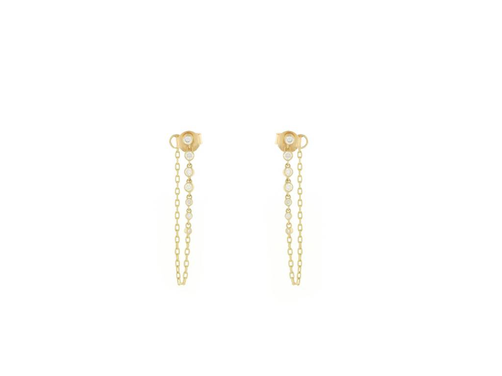 Kothari Diamond Chain Earrings
